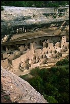 Cliff Palace, late afternoon. Mesa Verde National Park, Colorado, USA. (color)