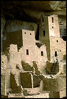 Square Tower in Cliff Palace. Mesa Verde National Park, Colorado, USA. (color)