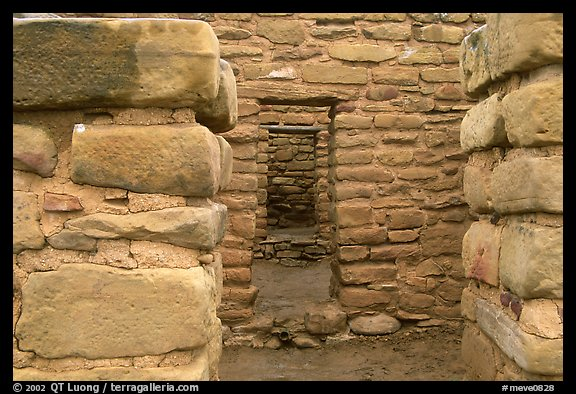 Doorways in Far View House. Mesa Verde National Park (color)