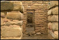 Doorways in Far View House. Mesa Verde National Park, Colorado, USA. (color)