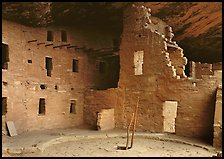 Kiva in Spruce Tree house. Mesa Verde National Park, Colorado, USA. (color)