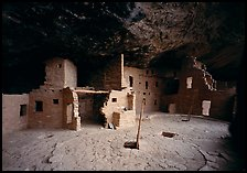 Spruce Tree house. Mesa Verde National Park, Colorado, USA. (color)