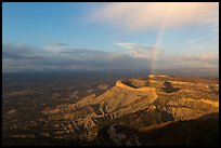 Rainbow over North Rim, sunset. Mesa Verde National Park ( color)