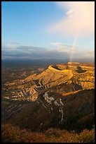 Rainbow and cliffs at sunset from Park Point. Mesa Verde National Park ( color)