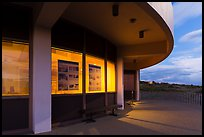 Far View visitor center at dusk. Mesa Verde National Park ( color)