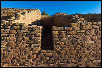 Far View House, early morning. Mesa Verde National Park, Colorado, USA. (color)