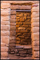 Aligned doors, Far View House. Mesa Verde National Park, Colorado, USA. (color)