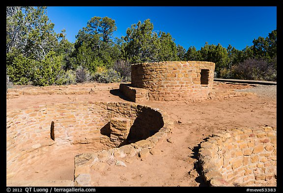 Far View Tower. Mesa Verde National Park (color)