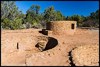 Far View Tower. Mesa Verde National Park, Colorado, USA. (color)