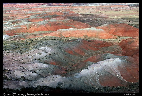 Painted Desert, morning. Petrified Forest National Park (color)