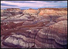 Blue Mesa basin at dusk. Petrified Forest National Park ( color)