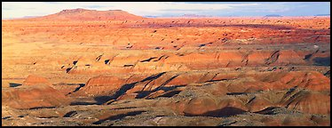 Ridges of Painted Desert. Petrified Forest National Park (Panoramic color)