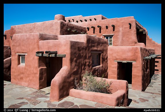 Painted Desert Inn in Adobe revival style. Petrified Forest National Park (color)