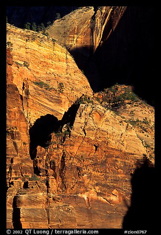 Rock walls near Hidden Canyon. Zion National Park (color)