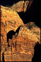 Rock walls near Hidden Canyon. Zion National Park, Utah, USA.