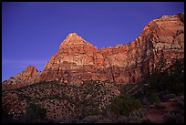 Watchman, sunset. Zion National Park, Utah, USA. (color)
