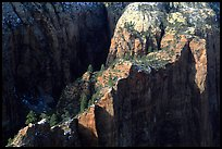 Cliffs seen from above near Angel's landing. Zion National Park, Utah, USA.