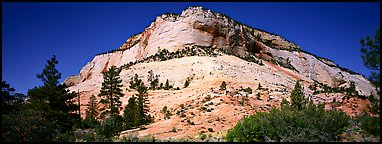 Sandstone bluff, Zion Plateau. Zion National Park (Panoramic color)