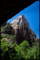 Peak from Weeping Rock alcove. Zion National Park ( color)