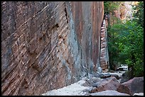 Tall steep cliff, Hidden Canyon. Zion National Park ( color)