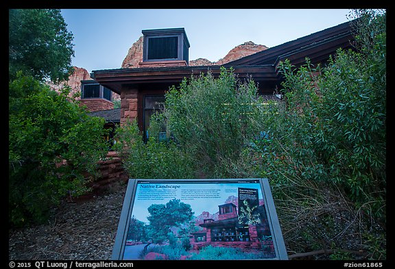 Visitor Center, Native Landscape interpretive sign. Zion National Park (color)