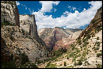 Steep sandstone cliffs above Echo Canyon. Zion National Park ( color)