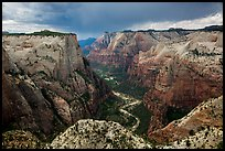 Approaching storm over Zion Canyon from East Rim. Zion National Park ( color)