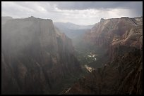 Storm over Zion Canyon. Zion National Park ( color)