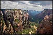 Multi-colored cliffs of Zion Canyon from Observation Point. Zion National Park ( color)