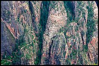 Distant view of Hidden Canyon trail. Zion National Park ( color)