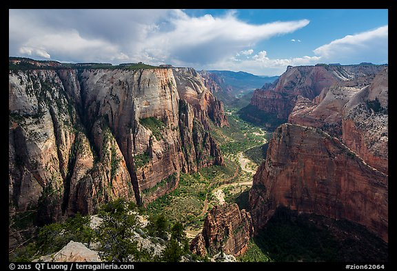 Zion Canyon from Observation Point. Zion National Park (color)
