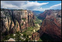 Zion Canyon from Observation Point. Zion National Park ( color)