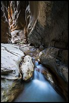 Stream, Orderville Canyon. Zion National Park ( color)