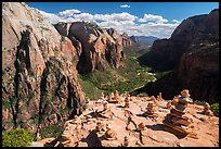 Cairns on Angels Landing. Zion National Park ( color)