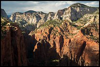 End of Zion Canyon seen from Angels Landing. Zion National Park ( color)