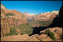 Tall sandstone cliffs from Canyon Overlook. Zion National Park ( color)