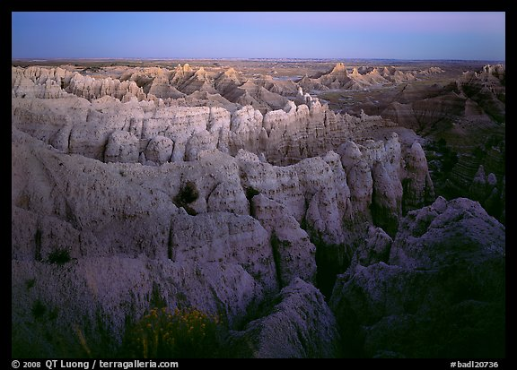 Sheep Mountain table at dusk. Badlands National Park (color)