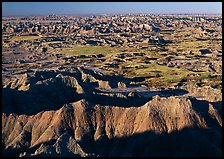 Badlands and prairie seen from above. Badlands National Park ( color)