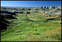 Badlands and Prairie at Yellow Mounds overlook. Badlands National Park ( color)