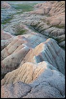 Brule formation badlands. Badlands National Park ( color)