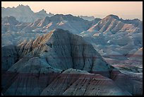Backlit badlands from Panorama Point. Badlands National Park ( color)