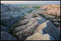 Badlands landscape from above at Panorama Point. Badlands National Park ( color)