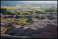 Buttes and grassy areas in Badlands Wilderness. Badlands National Park ( color)