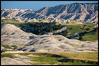 Badlands and Juniper forest. Badlands National Park ( color)