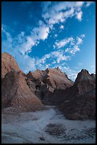 Rugged peaks at dawn. Badlands National Park ( color)