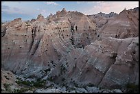 Peaks and canyons of the Wall near Norbeck Pass. Badlands National Park ( color)