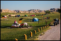 Motorcyle camping. Badlands National Park ( color)