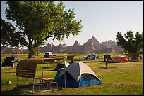 Tent camping. Badlands National Park ( color)