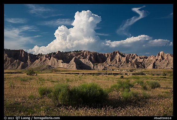 Cedar Butte, South Unit. Badlands National Park (color)