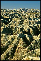Badlands from Windows overlook, morning. Badlands National Park ( color)